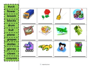 Phonics Cut and Paste for Autism
