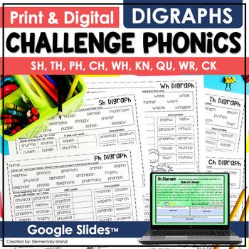 Challenge Phonics DIGRAPHS