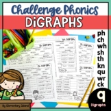 Challenge Phonics Digraph Worksheets - Phonics Digraphs sh th ch wh ph and MORE!