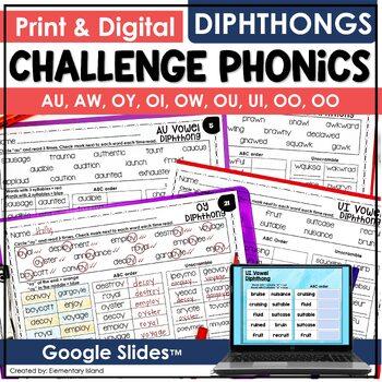 Challenge Phonics DIPHTHONGS