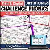 Challenge Phonics Vowel DIPHTHONGS - Vowel teams worksheets