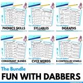 Kindergarten Literacy Using Bingo Dabbers
