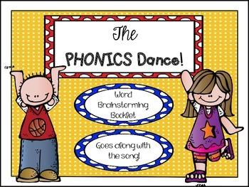 Phonics Dance - Word Brainstorming Booklet