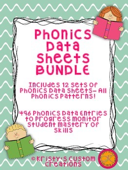 Phonics Data/ Progress Monitoring Sheets BUNDLE: All Phonics Patterns!