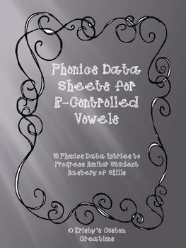 Phonics Data/ Progress Monitoring Sheets: R-Controlled Syllables