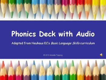 Phonics Deck with Audio- Neuhaus Sounc Cards