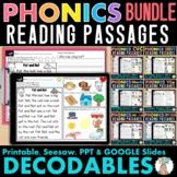 Phonics Decodable Passages Bundle Seesaw & Google Slides S