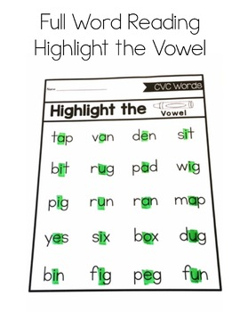 Phonics Decoding: CVC Words
