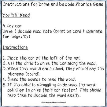 Consonant Digraphs Phonics Decoding Activity