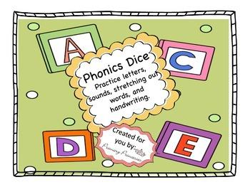 Phonics Dice A-Z literacy center