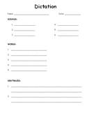 Phonics Dictation Page