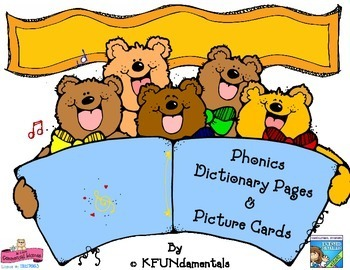 Alphabet Picture Cards & Phonics Pages: Initial Sounds, Writing, & Word Wall