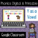 Phonics Digital & Printable Activities - Y as a Vowel