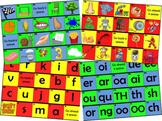 Phonics & Digraph Board Games (Jolly Phonics Phase 1,2,3,4,5,6)
