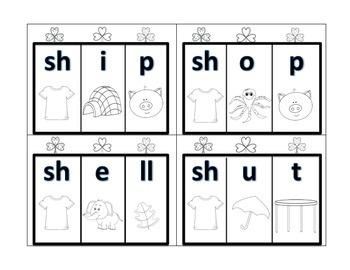 Phonics Digraphs Shamrock Shenanigans