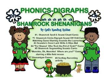Phonics Digraphs    Shamrock Shenanigans (in color)