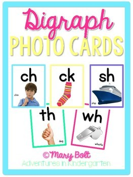 Phonics - Digraphs & Sounds Photo Cards {Colorful}
