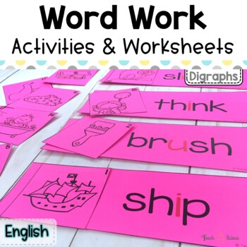 Word Work Stations - Easy to set up for Digraphs