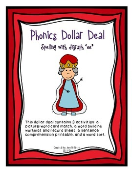 "Phonics Dollar Deal #12: Spelling with ""ee"" Digraph"
