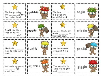 Phonics Dollar Deal #14: Final Stable Syllables