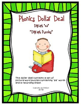 "Phonics Dollar Deal #16: ""EA"" Digraph"