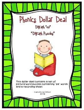 """Phonics Dollar Deal #16: """"EA"""" Digraph"""