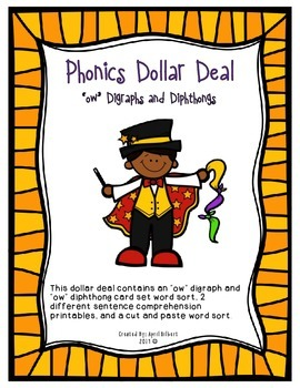 Phonics Dollar Deal 18: Digraphs and Diphthongs at the Circus