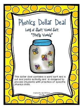 Phonics Dollar Deal #2: Long and Short Vowel Sort