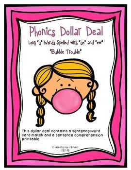 "Phonics Dollar Deal #29: Bubble Trouble with Long ""u"""