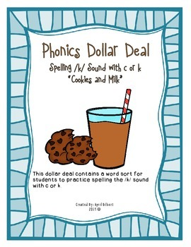 Phonics Dollar Deal #3: Spelling with c or k