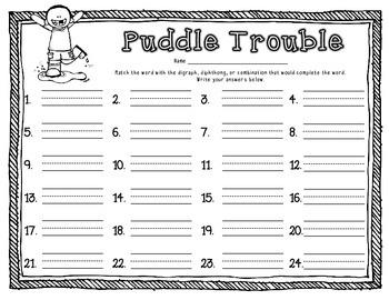 Phonics Dollar Deal #33: Puddle Trouble Vowel Sound Review