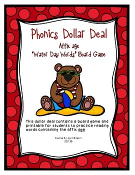 Phonics Dollar Deal #33: Water Day Word Endings age