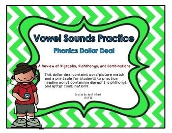 Phonics Dollar Deal #34: Vowel Sounds Review