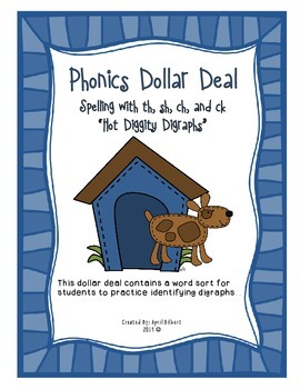 Phonics Dollar Deal #4: Hot Diggity Digraphs