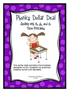 Phonics Dollar Deal #5: Digraph Sentence Comprehension Sheets