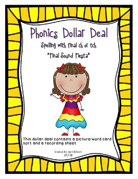 Phonics Dollar Deals #23: Final Sound Fiesta