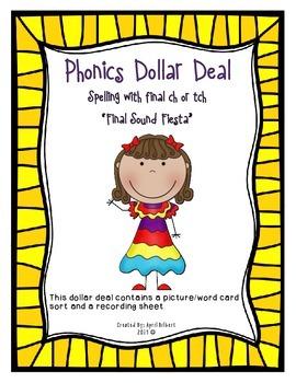 Phonics Dollar Deals #23: Final Sound Fiesta