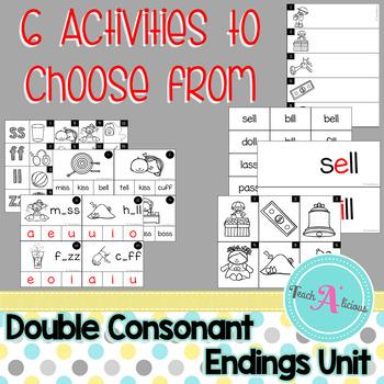 Phonics- Double consonant ending word work activities