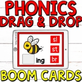 Phonics Drag and Drop Boom Cards (Digital Task Cards) Set
