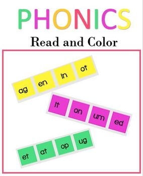 Phonics Drills: Read and Color