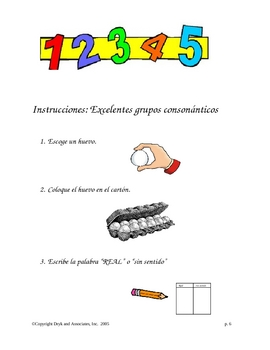Phonics:  EGG-cellent Blends (English and Spanish)