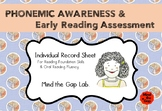 Phonemic Awareness & Early Reading Assessment ( Individual Record Sheet )