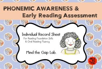 Phonemic Awareness & Early Reading Assessment ( Individual Record Sheet )