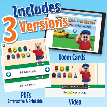 Phonics Easy Reader 3 - Interactive, Printable, and Video