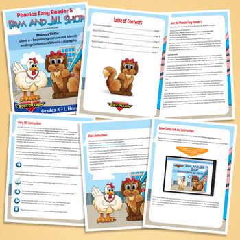 Phonics Easy Reader 5 - Interactive, Printable, and Video