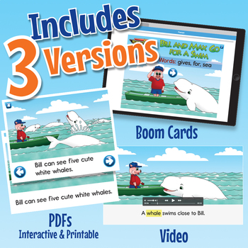 Phonics Easy Reader 6 - Interactive, Printable, and Video