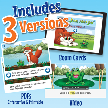 Phonics Easy Reader 7 - Interactive, Printable, and Video