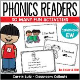 """Phonics Emergent Reader  {Diphthong """"ew""""}"""