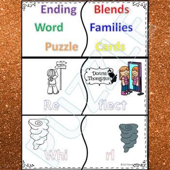 "Phonics ""Ending Blends"" (Puzzle Cards)"
