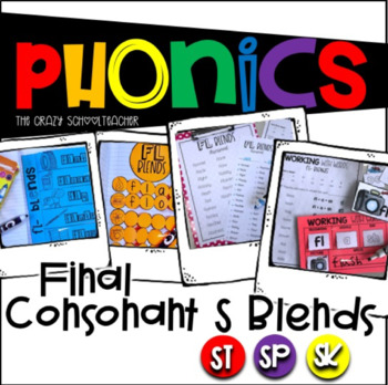 Phonics Ending Consonant S Blends
